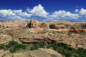 Escalante Grand Staircase National Monument Utah blue ksies canyon walls