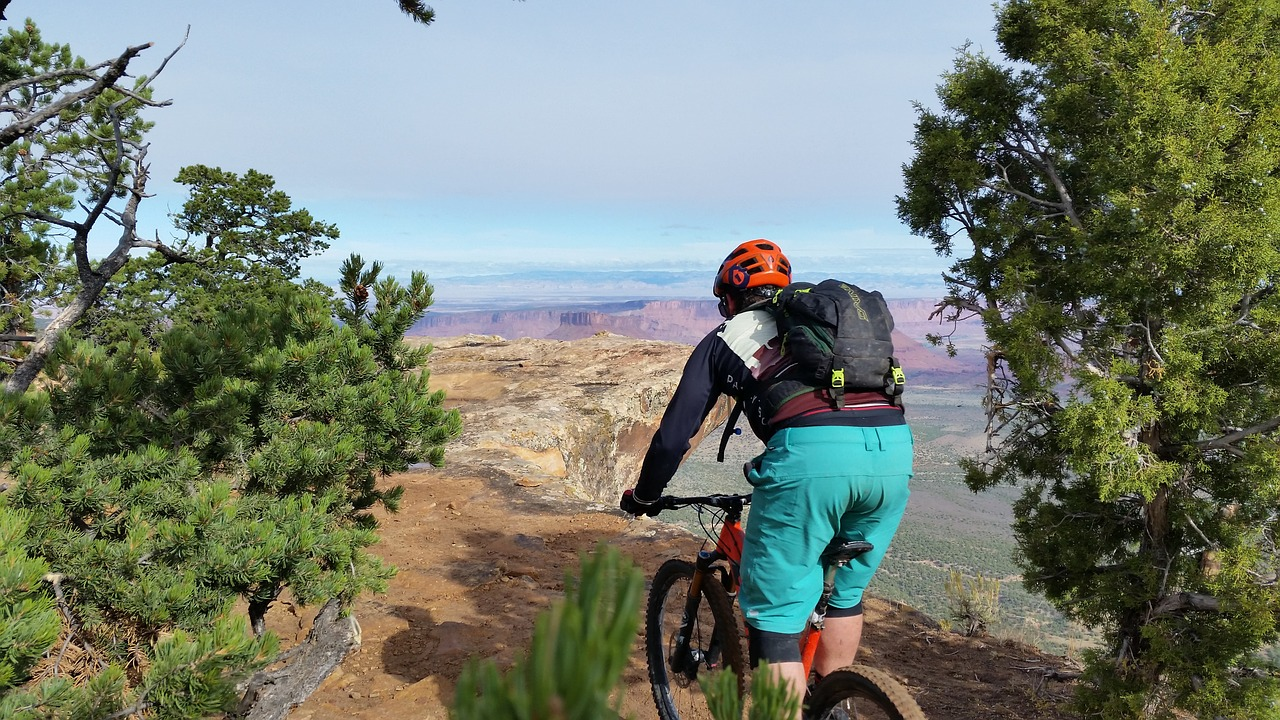 Mountain biking in Moab, Utah.