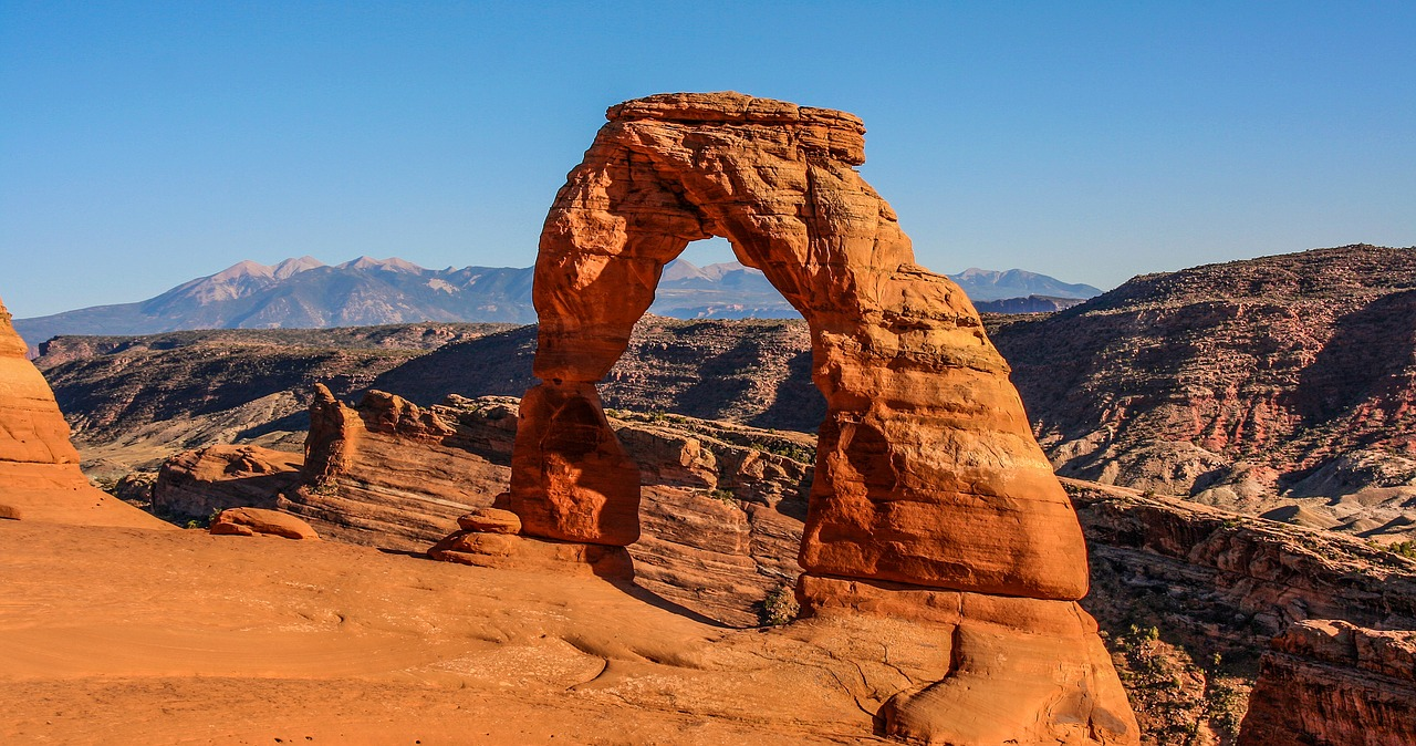 The Delicate Arch a 60 foot tall rock arch in Arches National Park